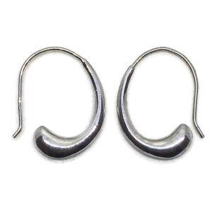 white gold on silver danglr drop hook earring
